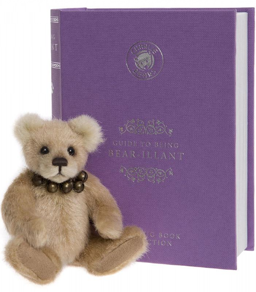 Library Book Lilac. Bear-illiant by Charlie Bears.